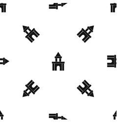 blocks toy pattern seamless black vector image vector image