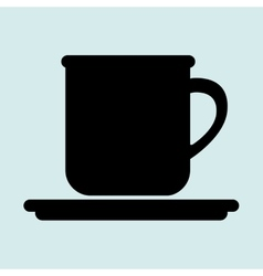 cup plate beverage icon vector image vector image