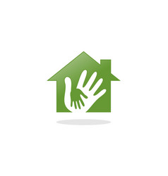 home hand care logo vector image