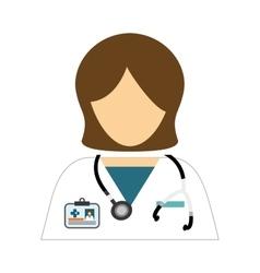 medical woman icon vector image