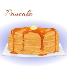 Pancakes with honey and butter for Shrove Tuesday vector image vector image
