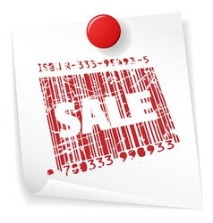 sale barcode vector image