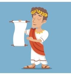 Scroll Declaration Roman Greek Retro Vintage vector image vector image