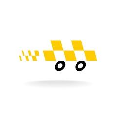 Taxi logo Checkers symbol Moving dynamic auto car vector image vector image