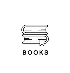 books linear icon or logo line vector image vector image