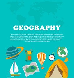 geography study education and science concepts vector image vector image