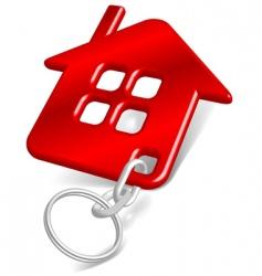 house keychain vector image