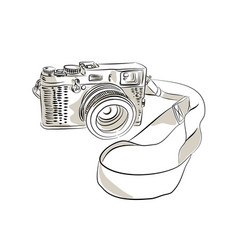 35mm slr film camera drawing vector