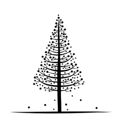 Abstract pine sketch for your design vector
