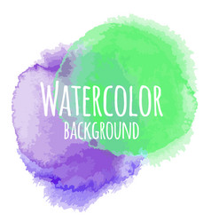 Abstract watercolor background green and purple vector