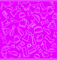accessories for lovely ladies seamless pattern vector image