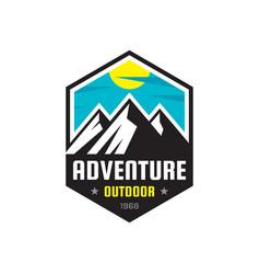 Adventure outdoor - logo template vector