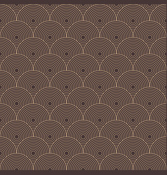 art deco of circle pattern background vector image