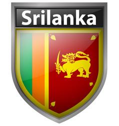 Badge design for flag of srilanka vector