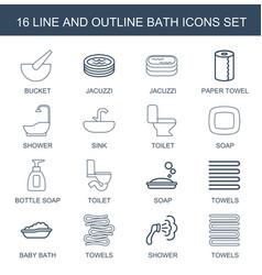 bath icons vector image