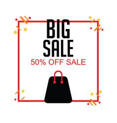 Big sale 50 off sale template design vector