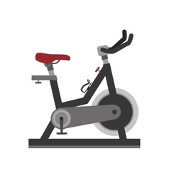 Bike gym static vector
