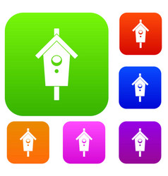 birdhouse set collection vector image