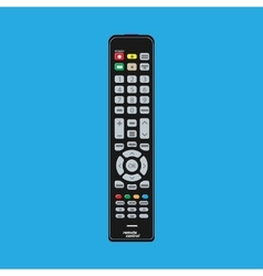 Black modern remote TV Control vector image