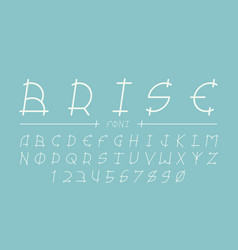 Brise cursive font alphabet vector