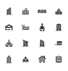 building icons set vector image