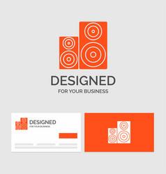 Business logo template for audio hifi monitor vector