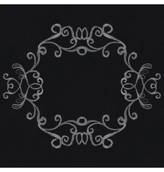 chalk decorative frame vector image