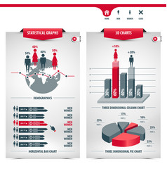charts and demographics vector image