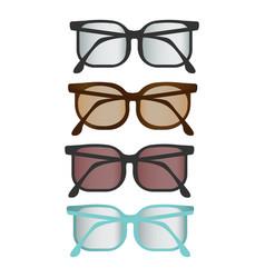 Colorful flat glasses set vector