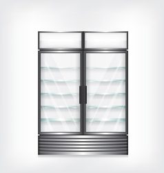 Commercial refrigerator with two door vector image