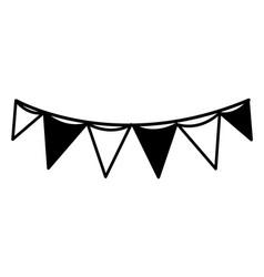 Contour flag party celebration decoration design vector