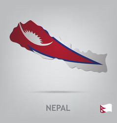 country nepal vector image