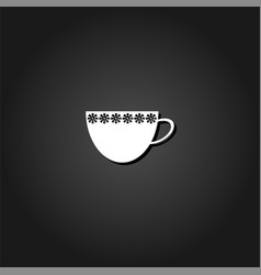 cup icon flat vector image