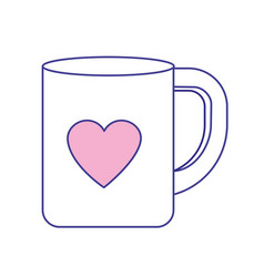 Cup to drink with heart design vector