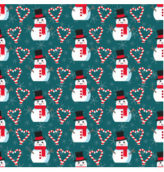 cute christmas pattern vector image