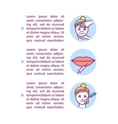 Dermal fillers concept icon with text vector