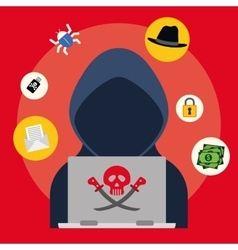 Digital fraud and hacking design vector image