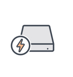 Disk drive fast hard storage icon vector