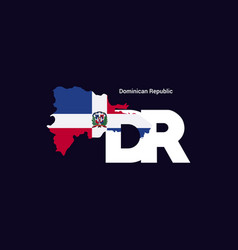 dominican republic initial letter country with vector image