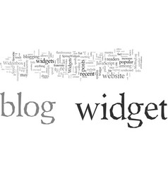 Dress up your blog with widgets vector