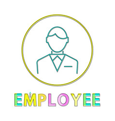 employee working man outline vector image