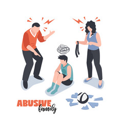 Family conflicts concept vector