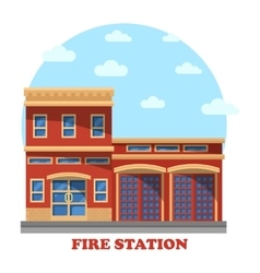 Fire station or department for firefighters vector