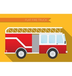 Flat design city Transportation fire truck side vector