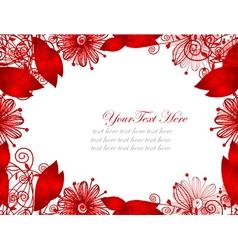 floral invitation vector image