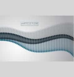 flowing particles wave dynamic sound motion 3d vector image