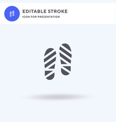 footprint icon filled flat sign solid vector image