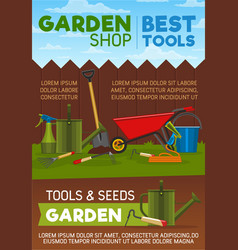gardening tools items and equipment vector image