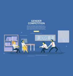 gender competition web banner design vector image