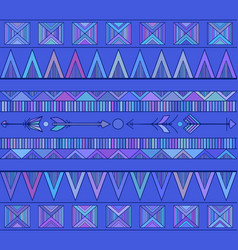 geometric seamless boho pattern with arrows in vector image